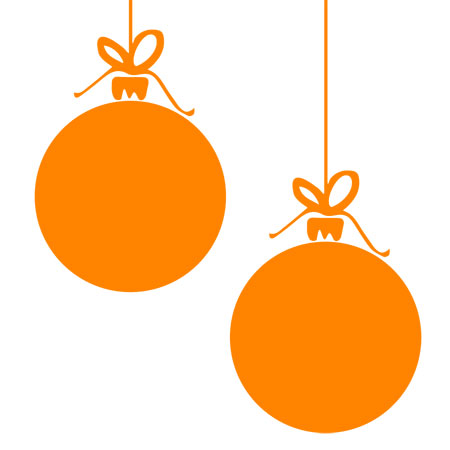 Christmas Bauble Orange 03